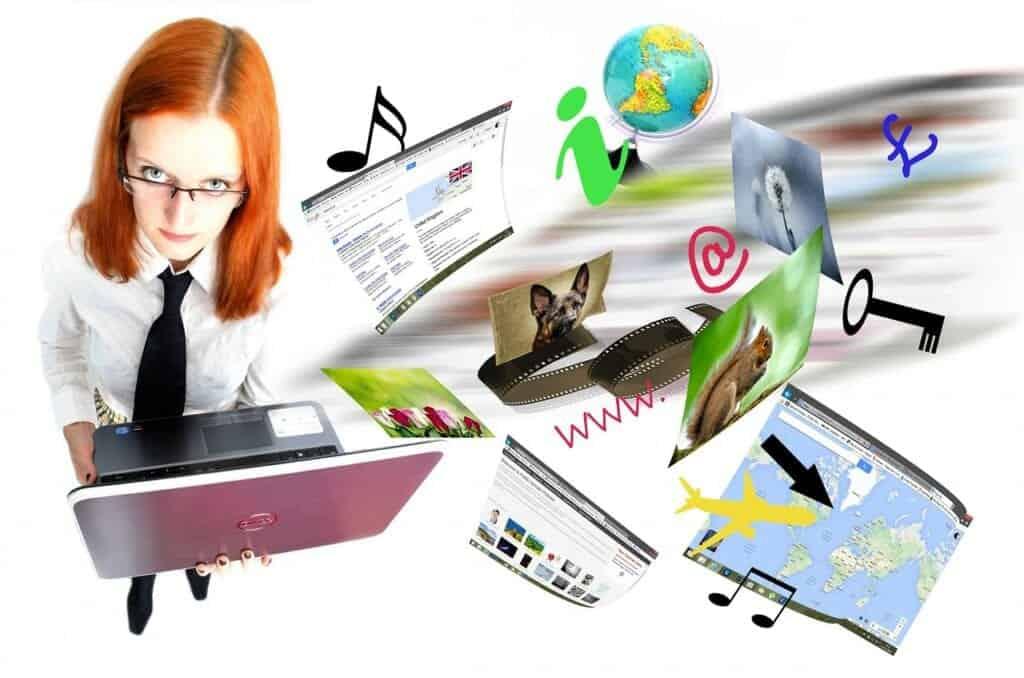 internet, laptop, video